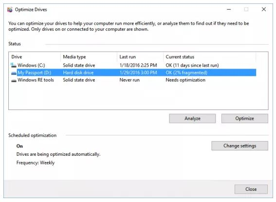 Cara Defrag Windows 10